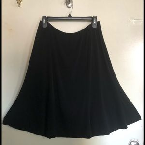 Casual Stretchy Flare Bottom Skirt